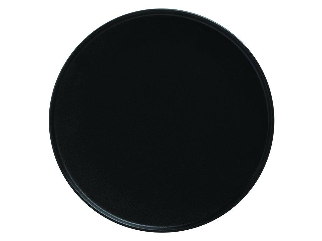Porcelánový dezertní talíř s vyšším okrajem CAVIAR 21 cm černý -Maxwell&Williams