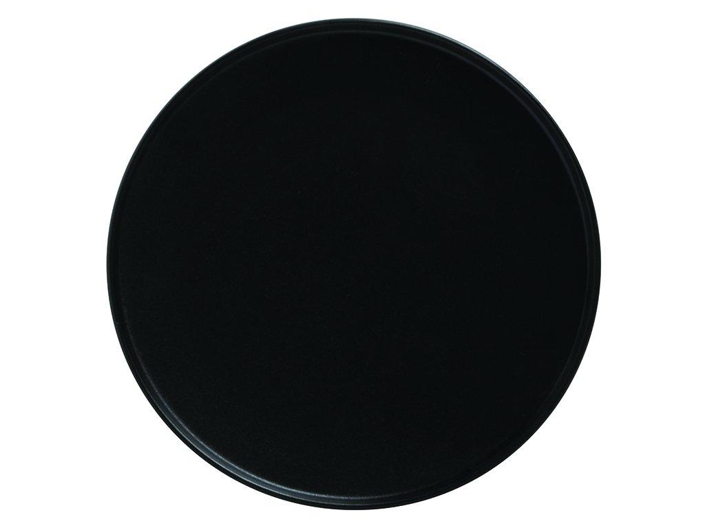 Porcelánový mělký talíř s vyšším okrajem CAVIAR 24,5 cm černý - Maxwell&Williams