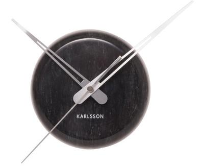 Nástěnné hodiny Mini mramor 30 cm Black - Karlsson