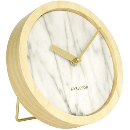 Nástěnné hodiny stolní 17 cm dřevěné - Karlsson