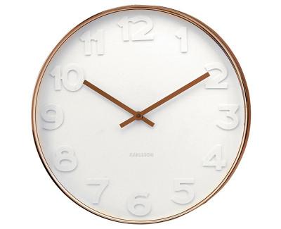 Nástěnné hodiny  embos 38 cm měděné - Karlsson
