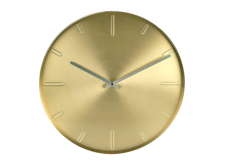 Nástěnné hodiny Brass metal 40 cm mosazné - Karlsson