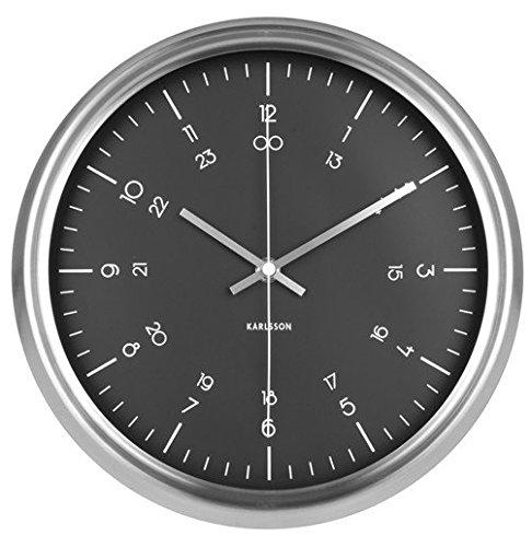 Nástěnné hodiny Port black 30 cm nerezové - Karlsson