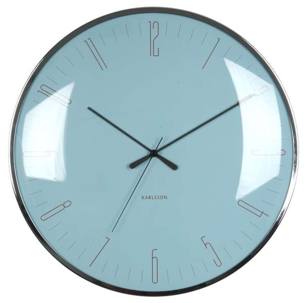Nástěnné hodiny Glass blue 40 cm modré - Karlsson
