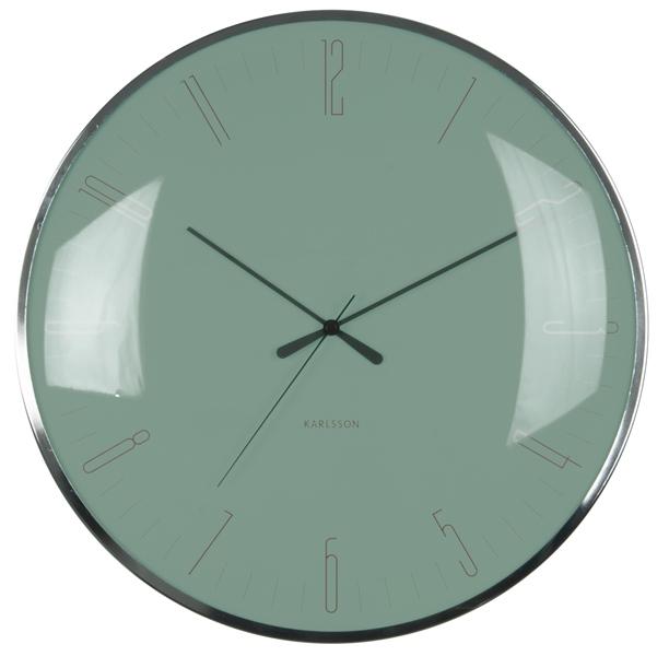 Nástěnné hodiny Glass green 40 cm zelené - Karlsson