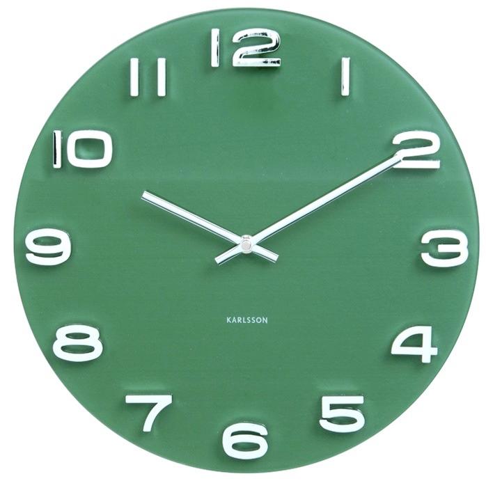 Nástěnné hodiny Vintage Glas 35 cm zelené - Karlsson