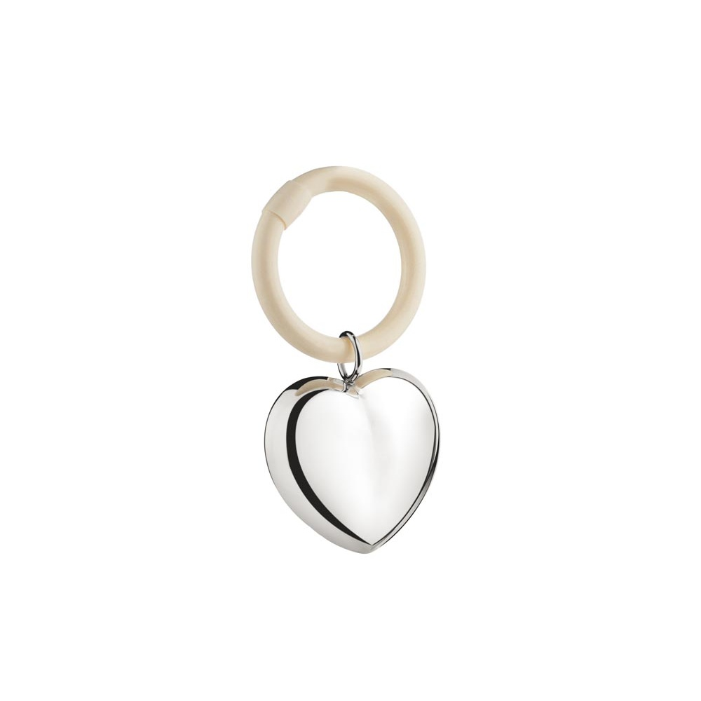 Postříbřené chrastítko srdce - Zilverstad