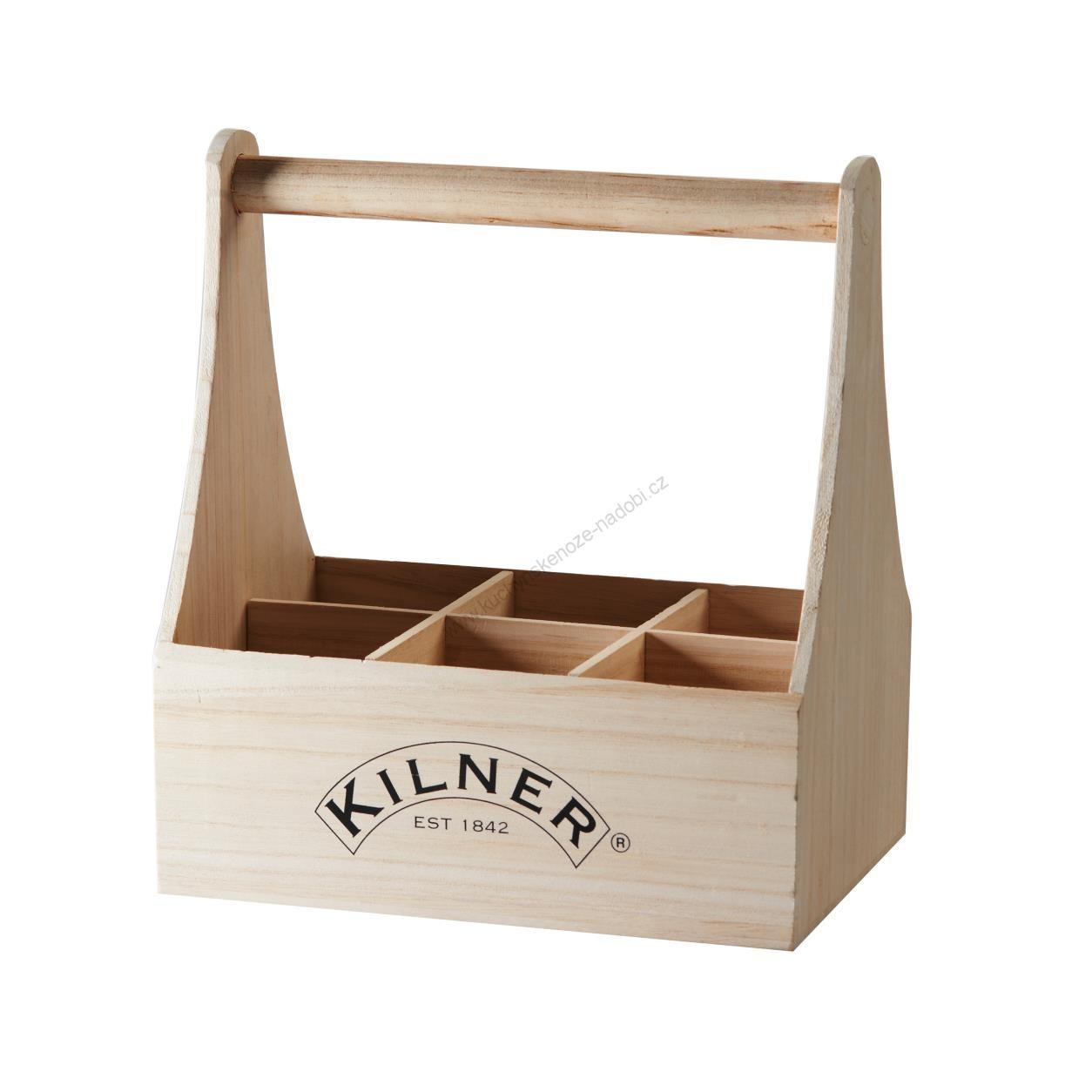 Dřevěná přenoska na láhve - Kilner