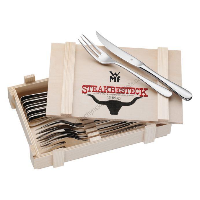 Steakový příbor 12 dílný v dřevěné krabičce - WMF