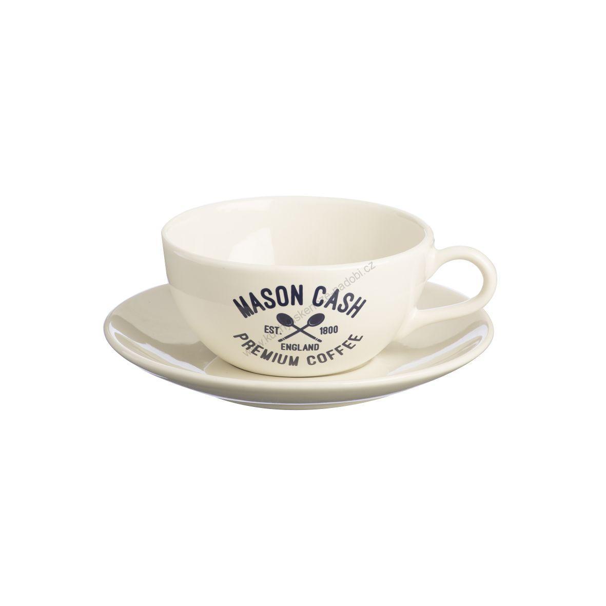 Cappuccino šálek s podšálkem 0,35l Varsity krémová - Mason Cash
