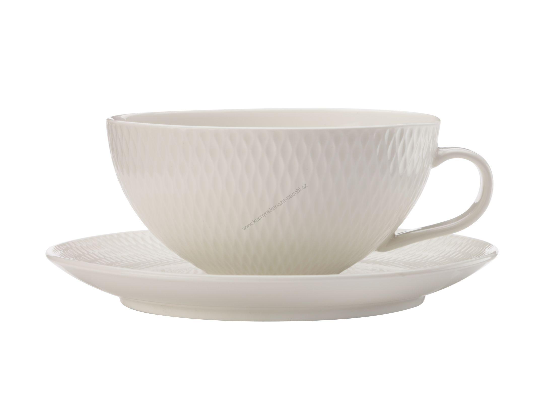 Porcelánový šálek s podšálkem na čaj 250 ml DIAMONDS - Maxwell&Williams