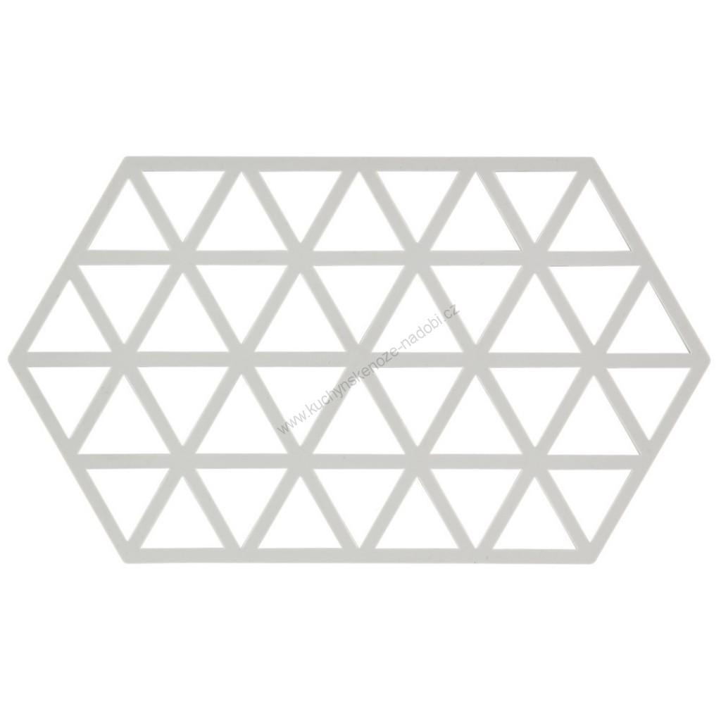 Silikonová podložka pod horké TRIANGLES 24 cm, teplá šedá - Zone