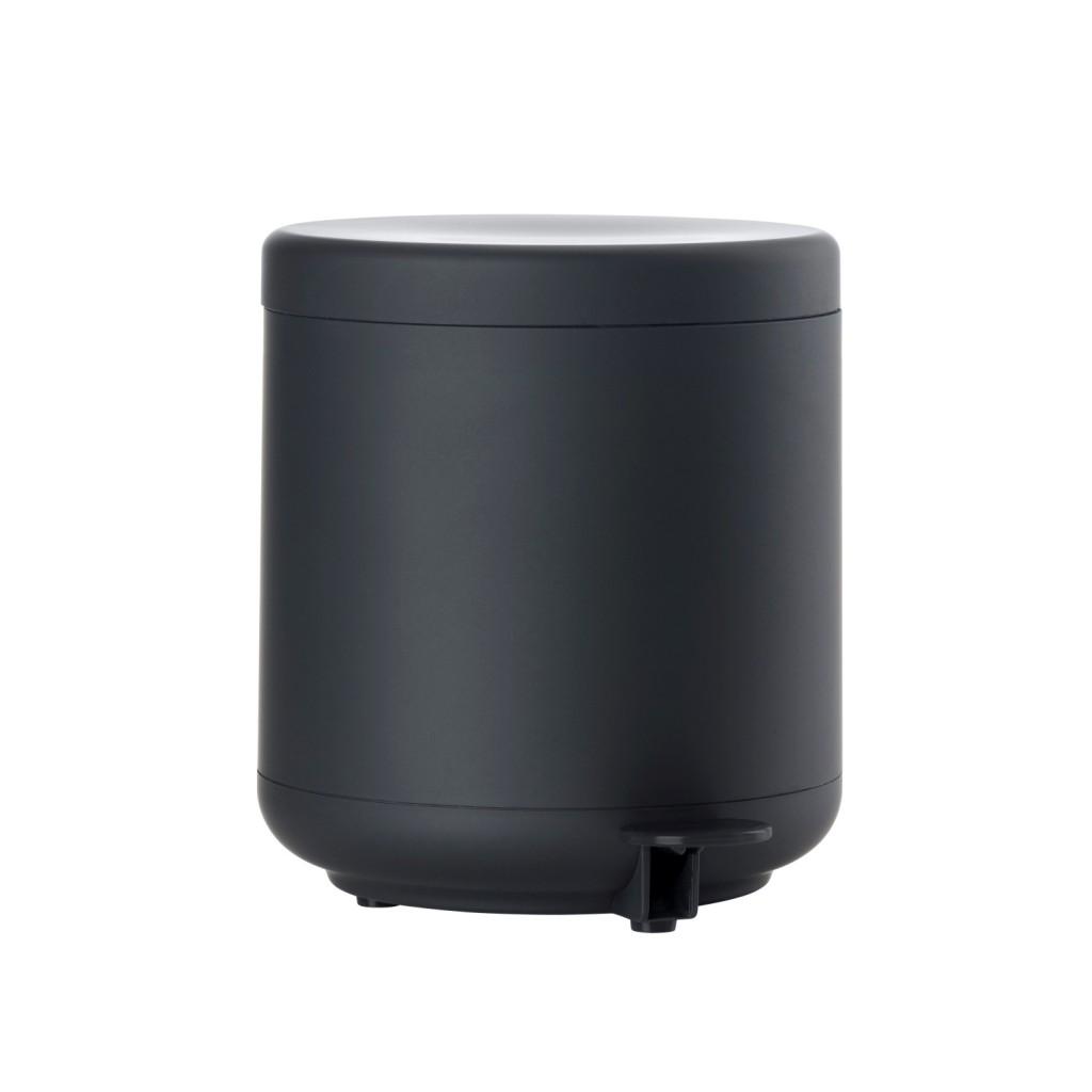Koupelnový odpadkový koš s pedálem BULLI, černý - Zone