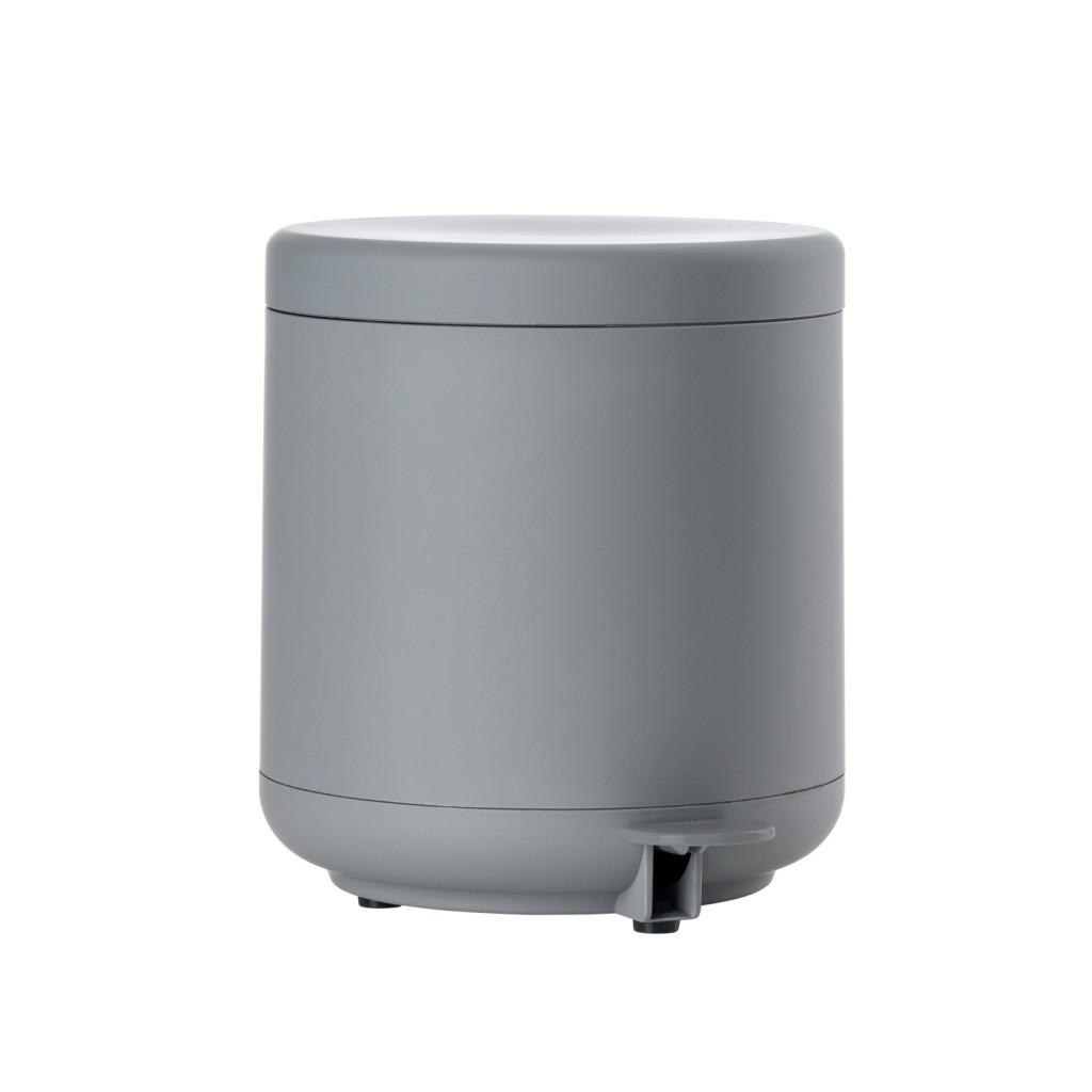 Koupelnový odpadkový koš s pedálem BULLI, šedý - Zone