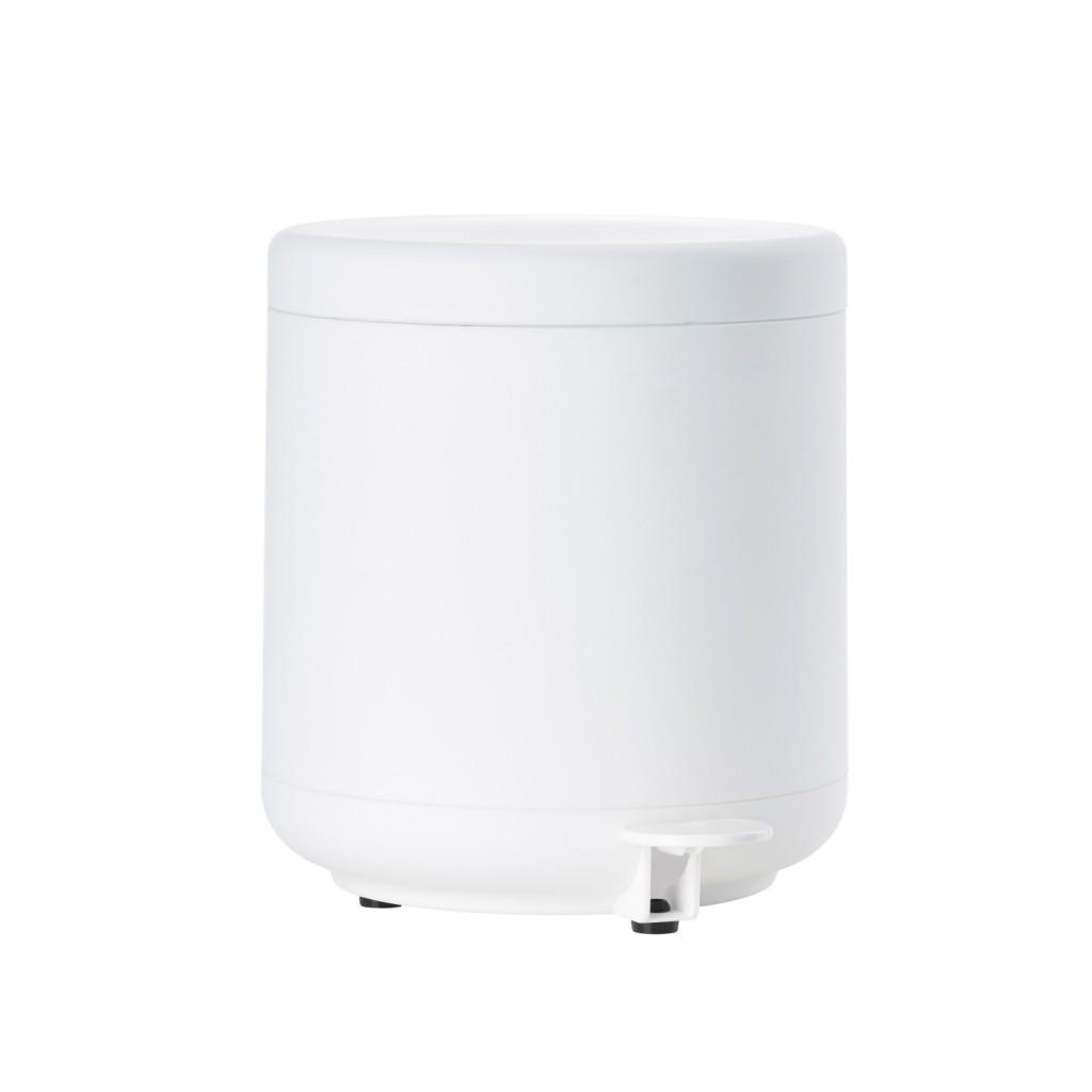 Koupelnový odpadkový koš s pedálem BULLI, bílý - Zone