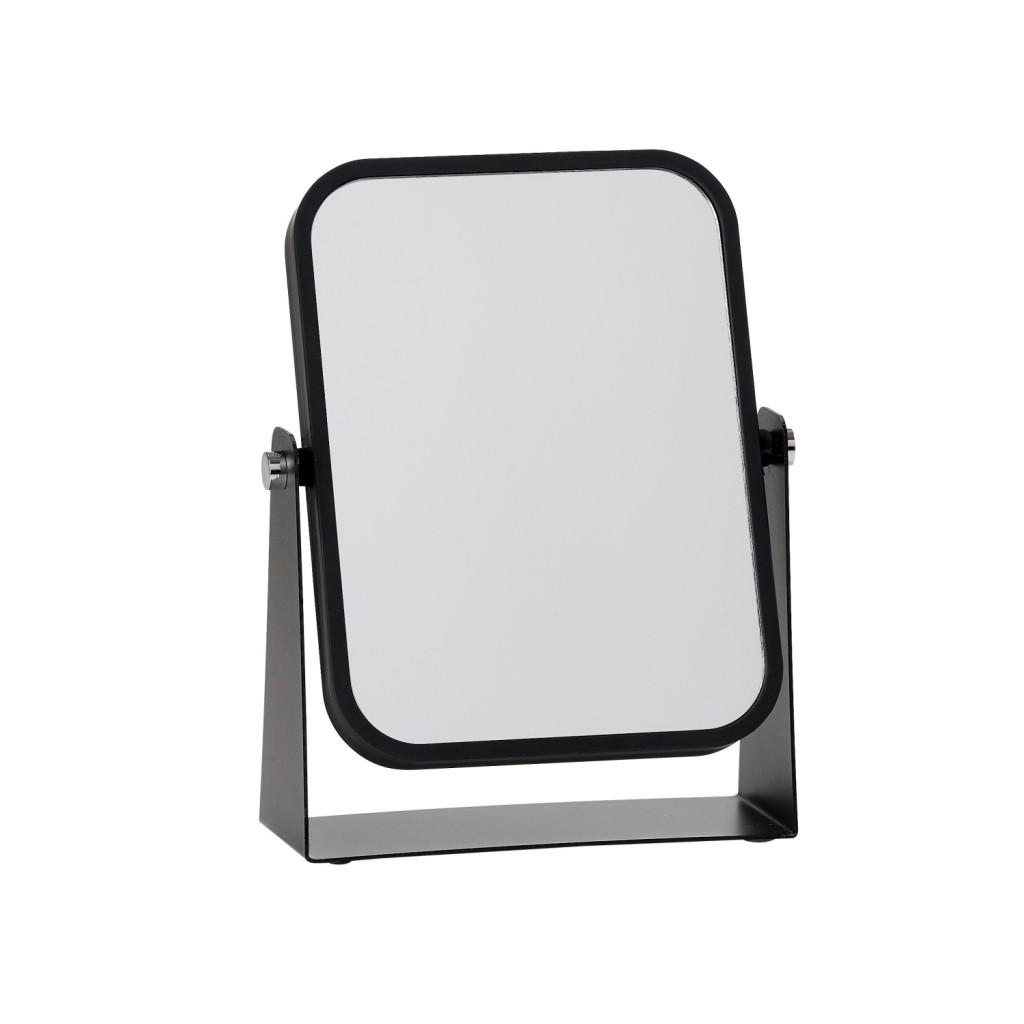 Oboustranné stolní kosmetické zrcadlo, černé - Zone