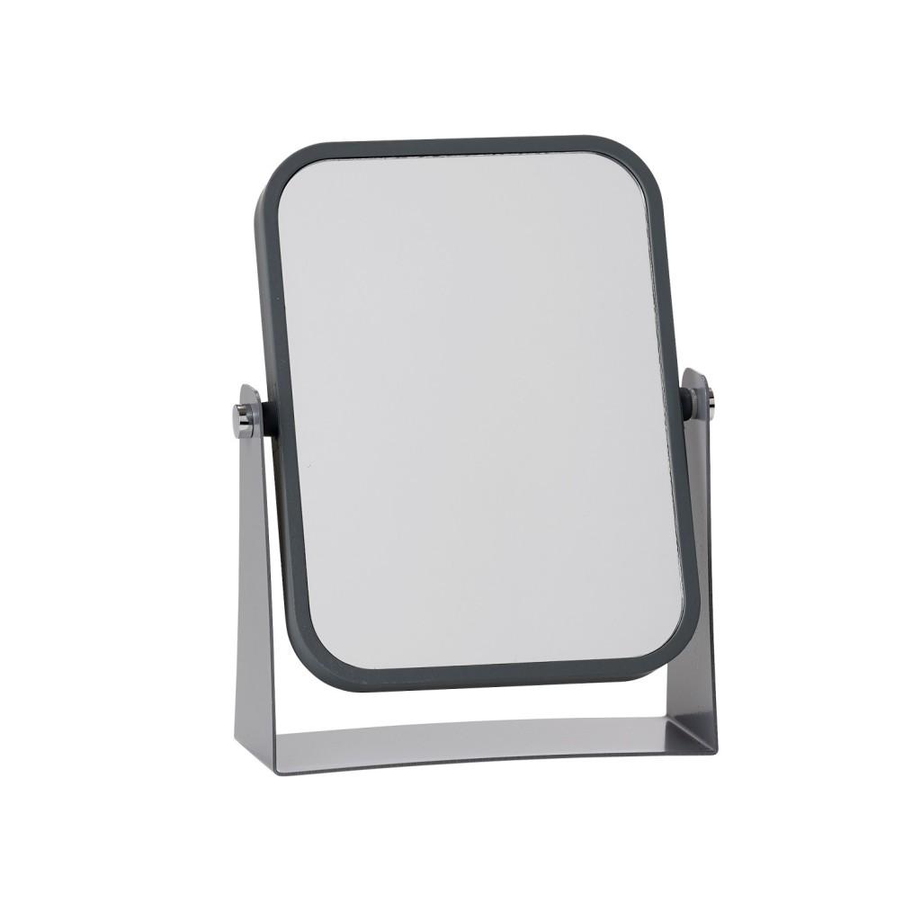 Oboustranné stolní kosmetické zrcadlo, šedé - Zone