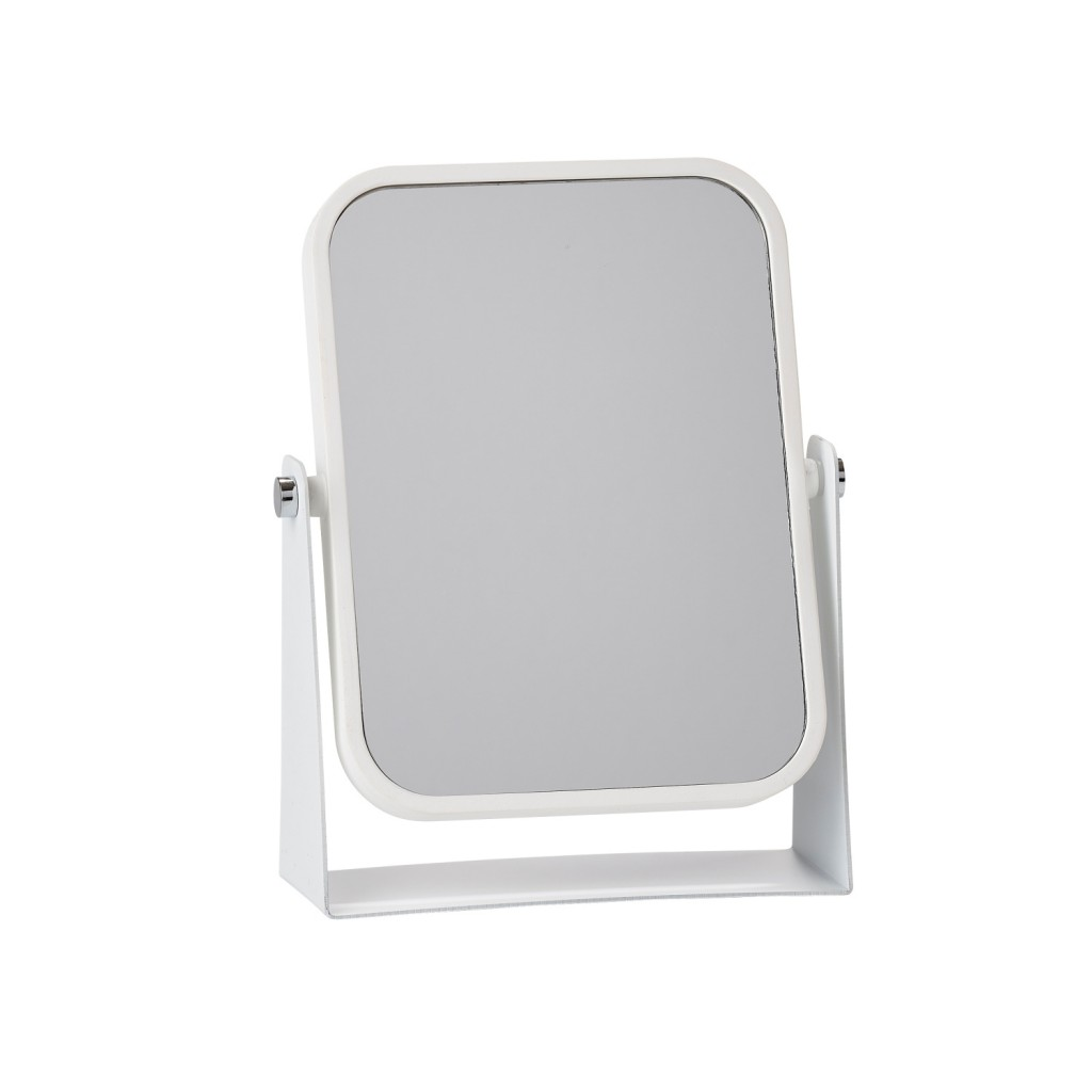 Oboustranné stolní kosmetické zrcadlo, bílé - Zone