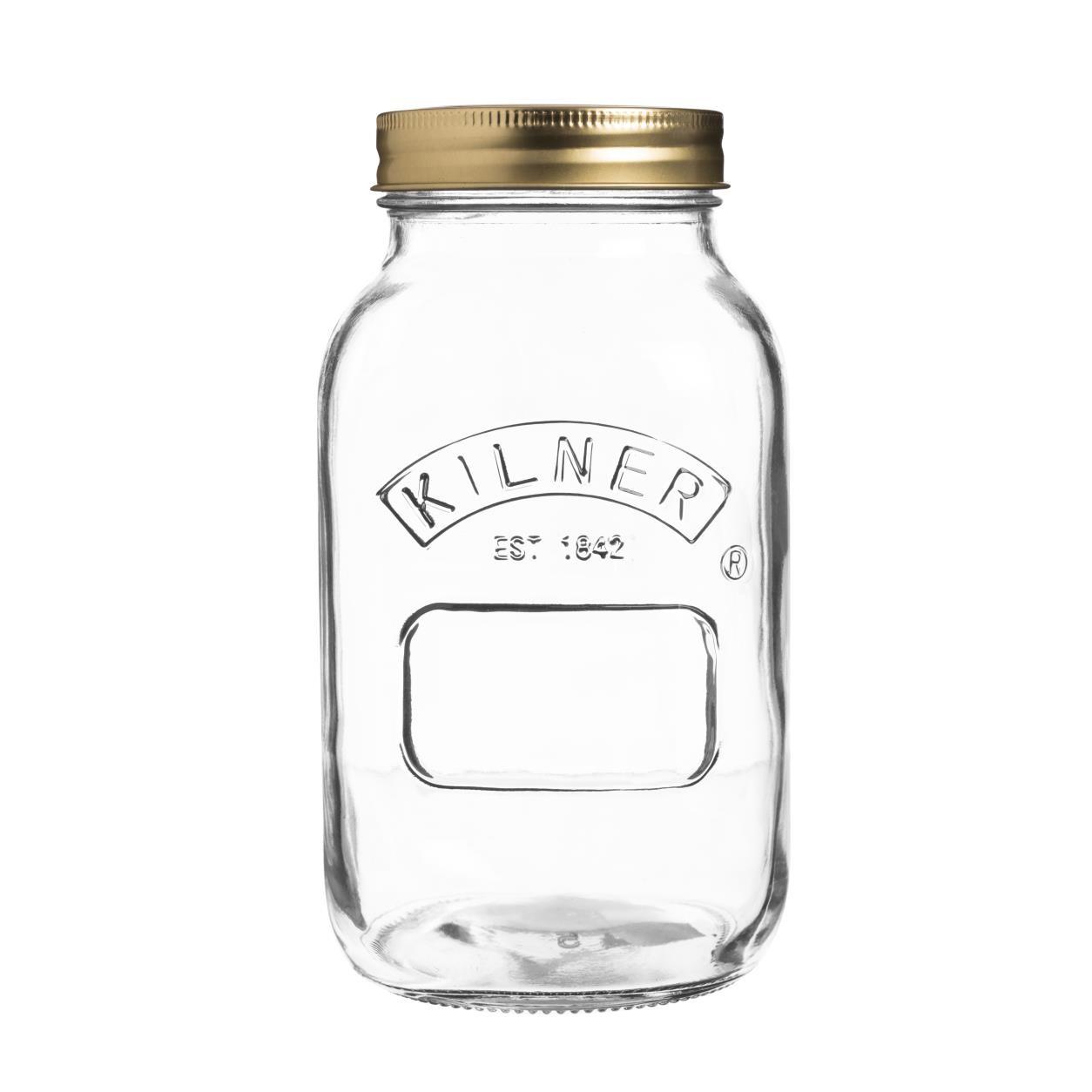 Zavařovací sklenice 1l šroubovací - Kilner
