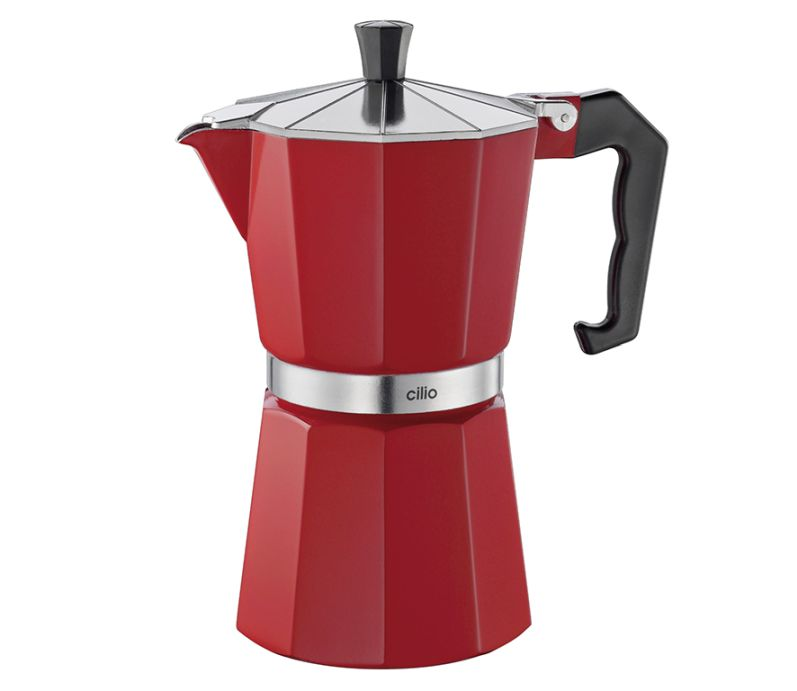 Kávovar espressa Classico na 6 šálků 300 ml, červený - Cilio