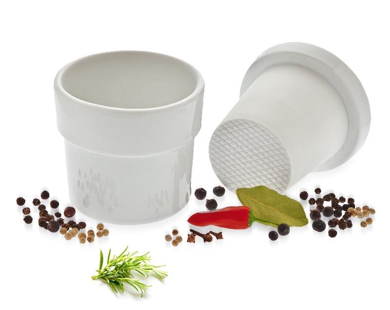 Porcelánový hmoždíř na bylinky - Küchenprofi
