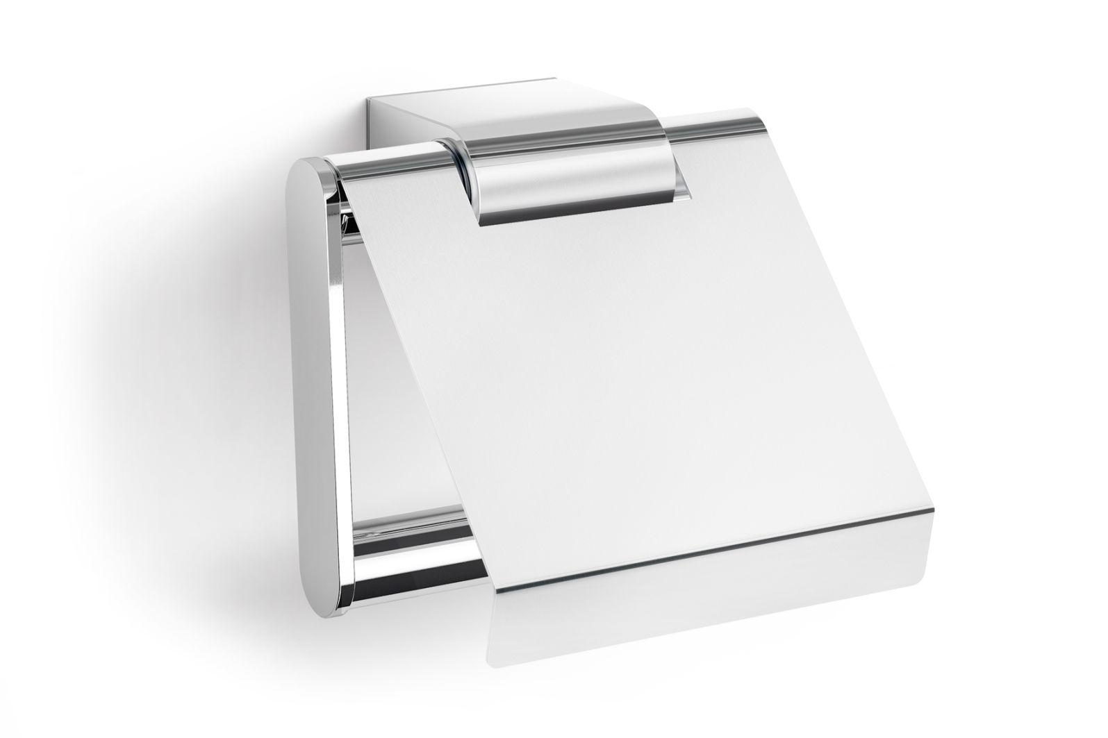 Držák na toaletní papír ATORE s krytkou, lesklý - ZACK