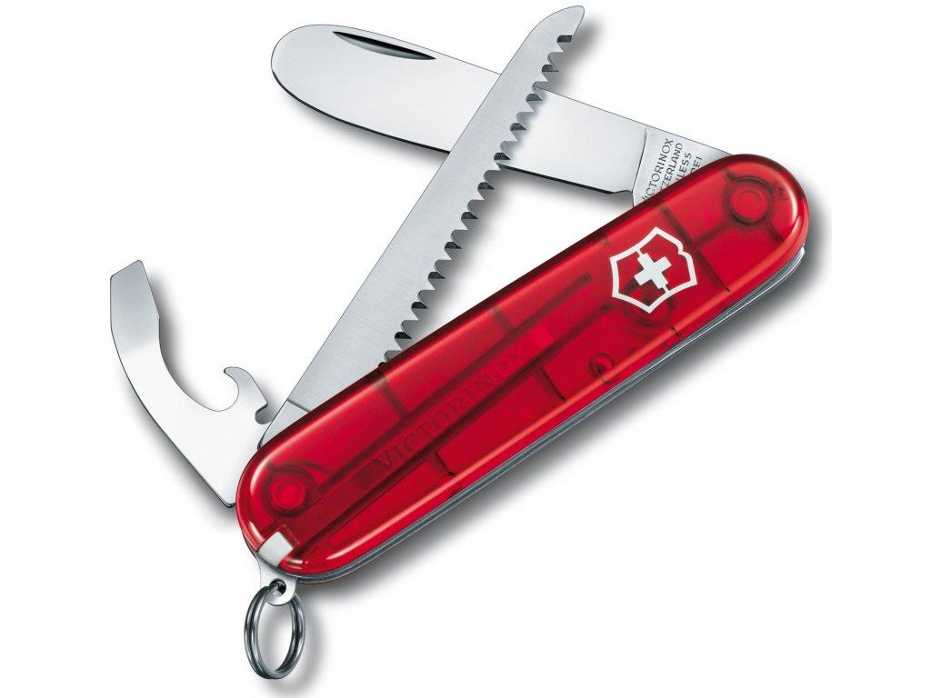 Kapesní nůž MY FIRST transparent červený- Victorinox