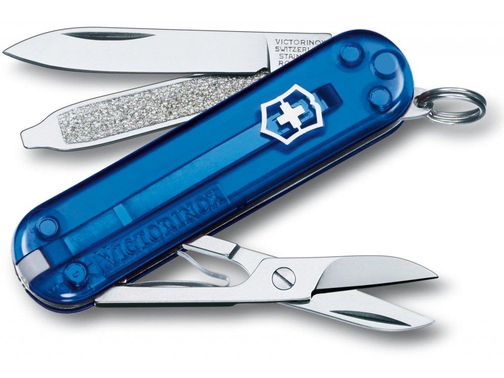 Mininůž CLASSIC SD transparent modrý- Victorinox