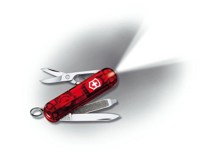Mininůž SWISSLITE transparent červený - Victorinox