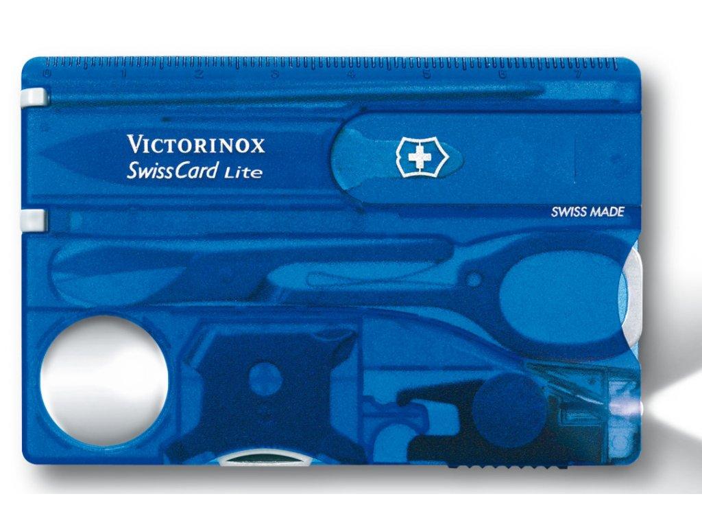 Multifunkční kapesní nůž SWISSCARD transparentní  modrá - Victorinox