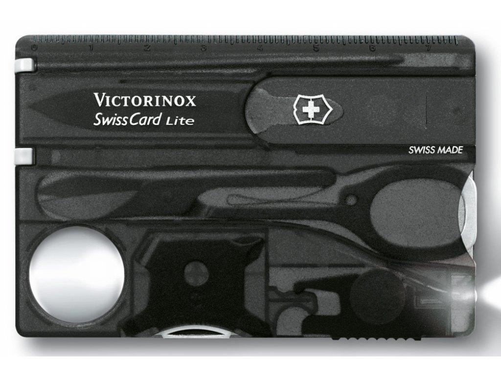 Multifunkční kapesní nůž SWISSCARD LITE transparentní černá - Victorinox