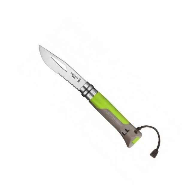 Zavírací nůž VRI N°08 Inox Outdoor Green 8,5 cm zelený - Opinel