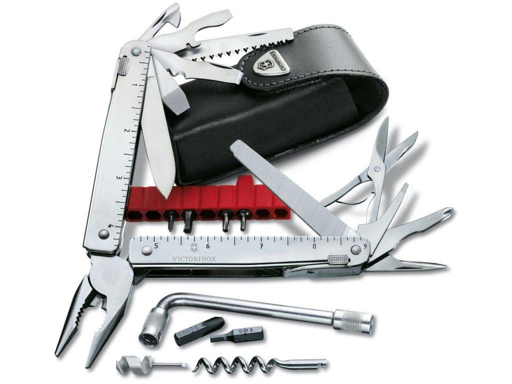 Nářaďový nůž SWISSTOOL X PLUS v koženém pouzdře - Victorinox