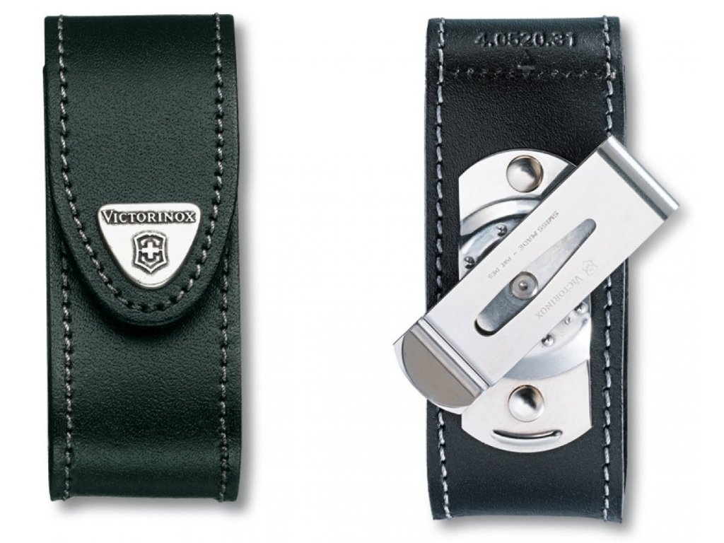 Kožené pouzdro s rotačním klipem pro nože 91mm - Victorinox