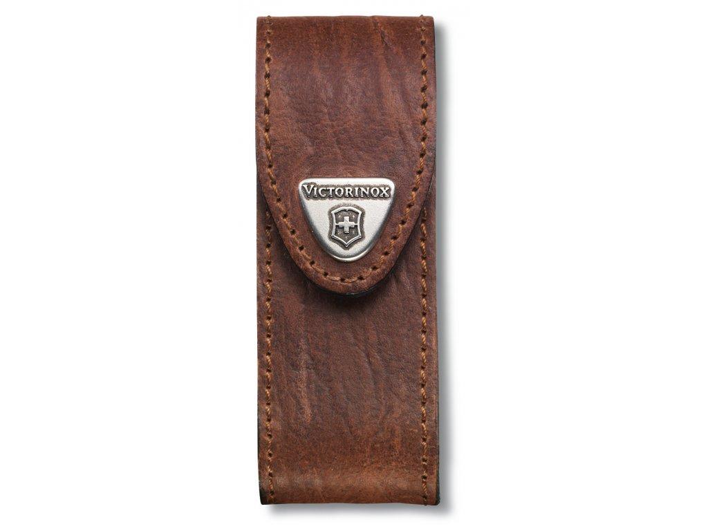 Kožené pouzdro pro kapesní nože 91mm, hnědé - Victorinox