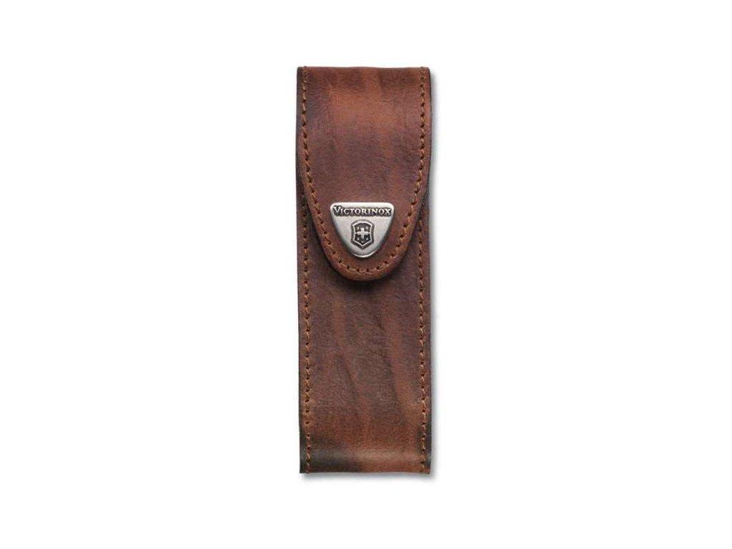 Kožené pouzdro pro kapesní nože 111mm hnědé - Victorinox
