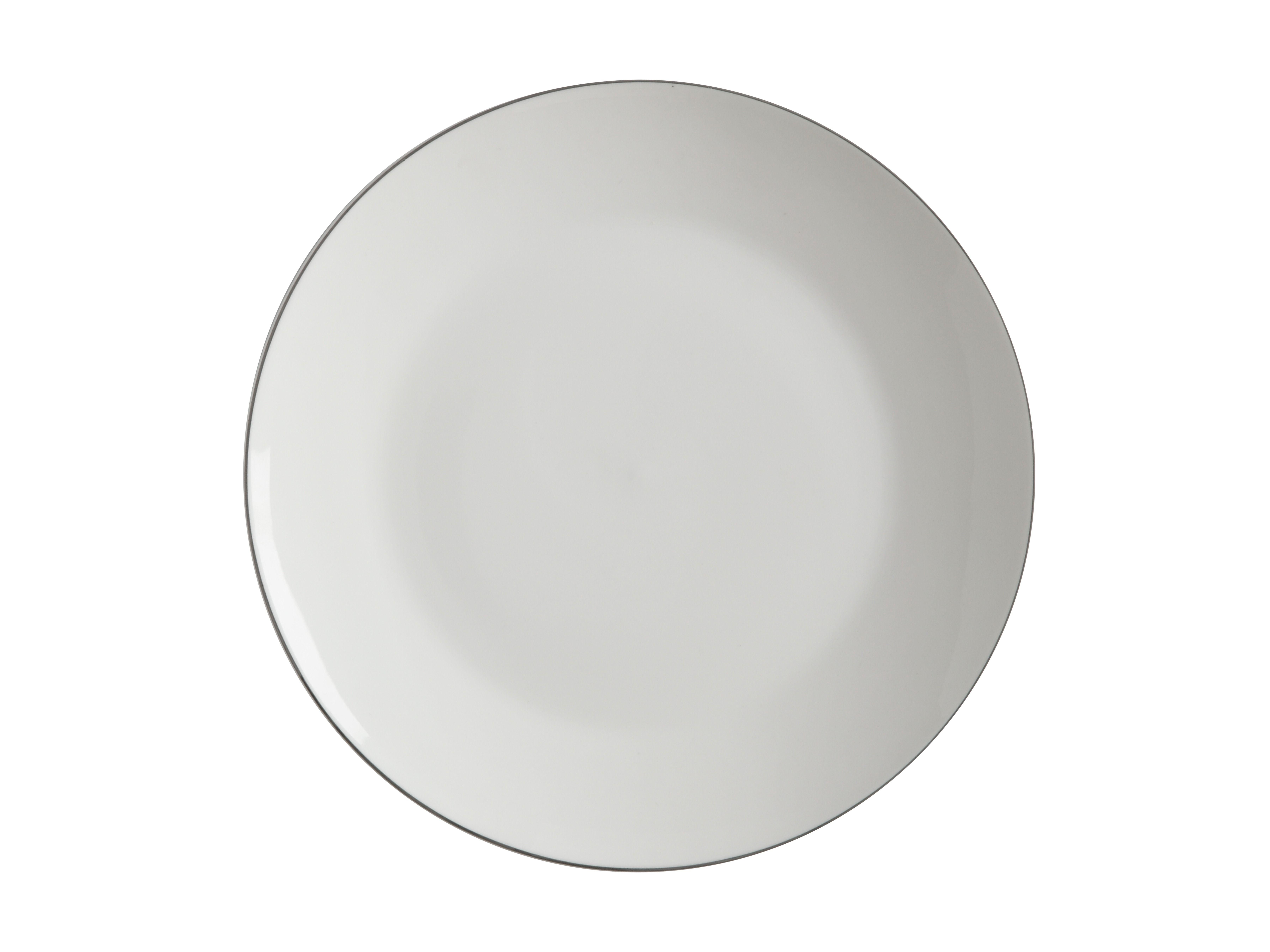 Porcelánový mělký talíř White Basics EDGE 27 cm - Maxwell&Williams