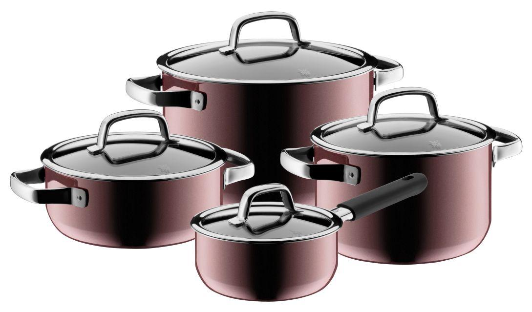 4 dílná sada hrnců FUSIONTEC MINERAL růžový křemen - WMF