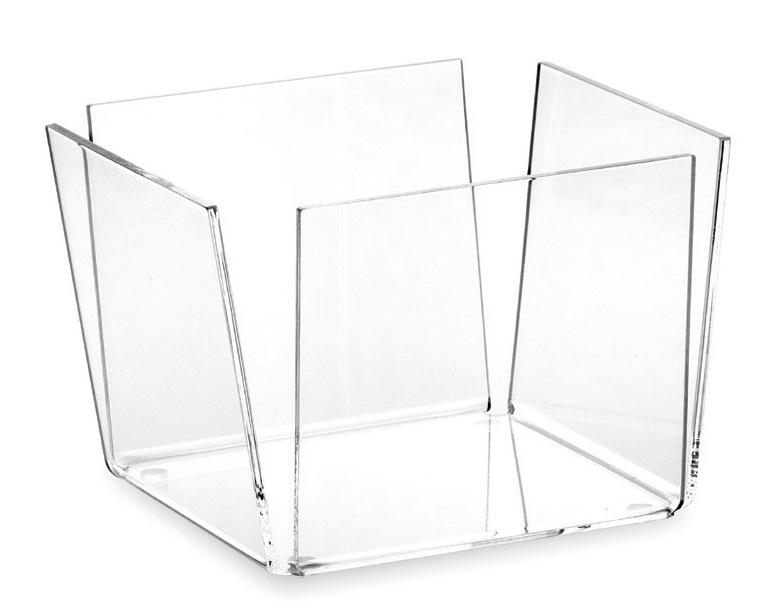 Čtvercová miska 15x15cm, transparentní - Carlo Giannini