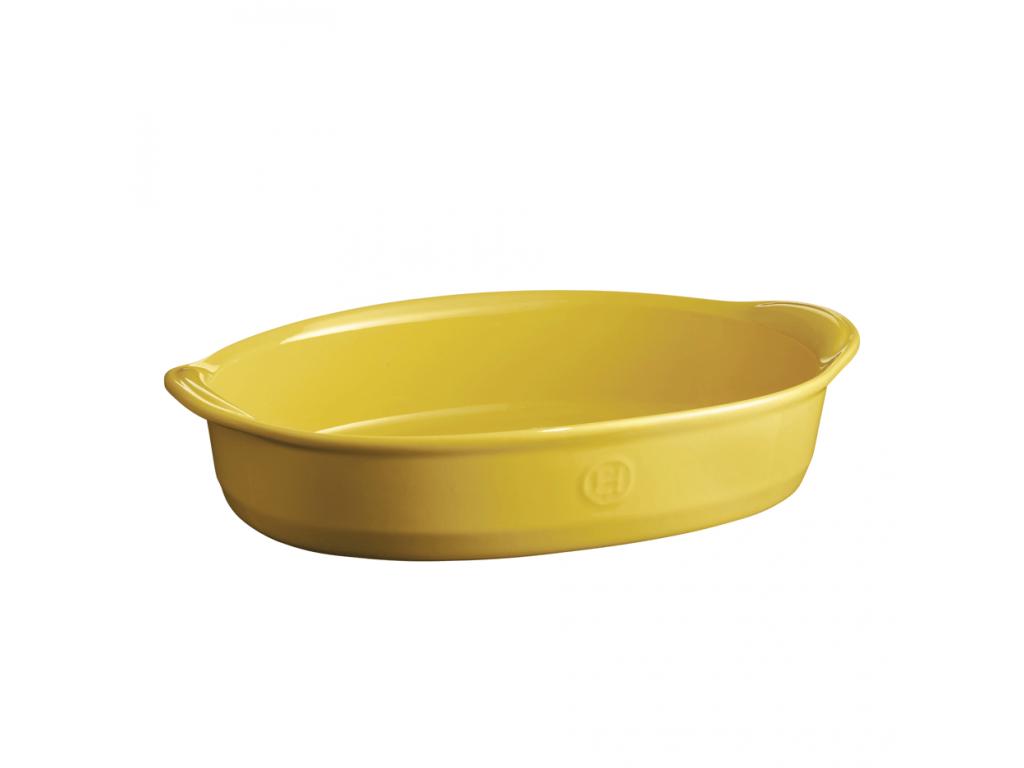 Oválná zapékací mísa ULTIME Provence žlutá 41 x 26 cm - Emile Henry