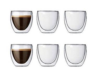Set 6 ks Dvoustěnná sklenice PAVINA 0,08 l - Bodum
