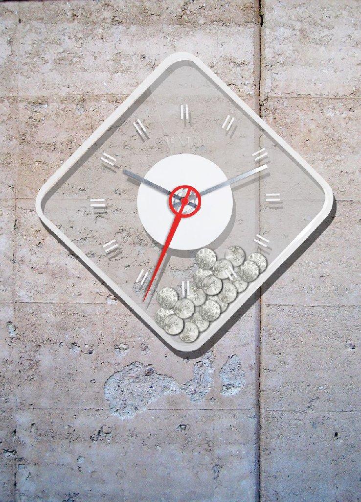 Nástěnné hodiny Coin 35 x 35 cm - NEXTIME