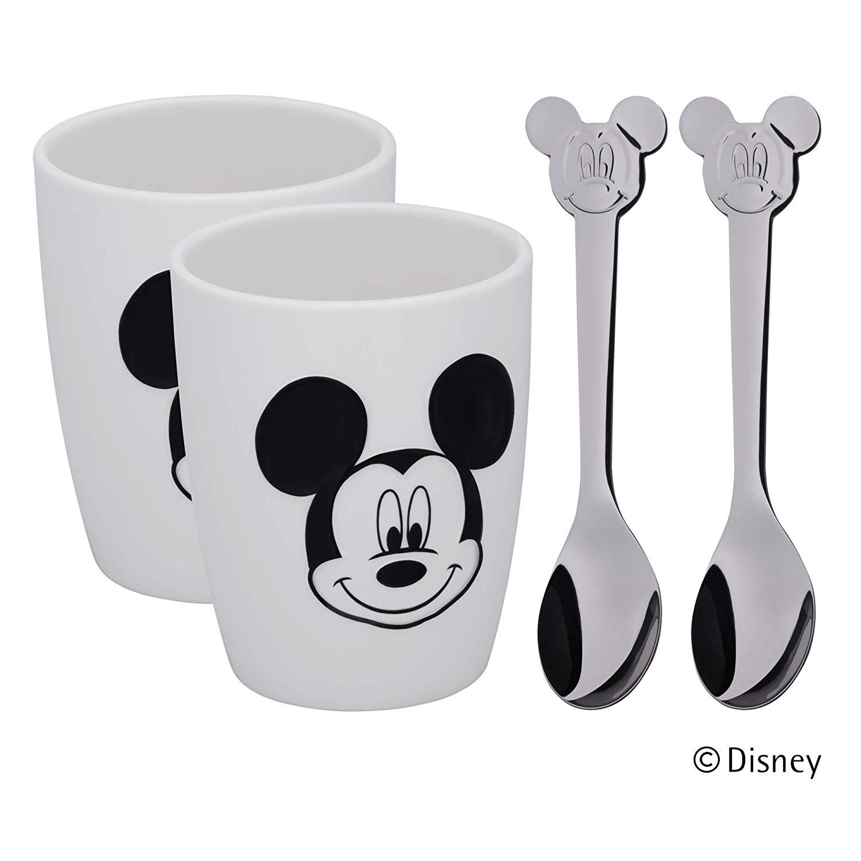 Sada hrnků se lžičkami Mickey Mouse 4 ks - WMF