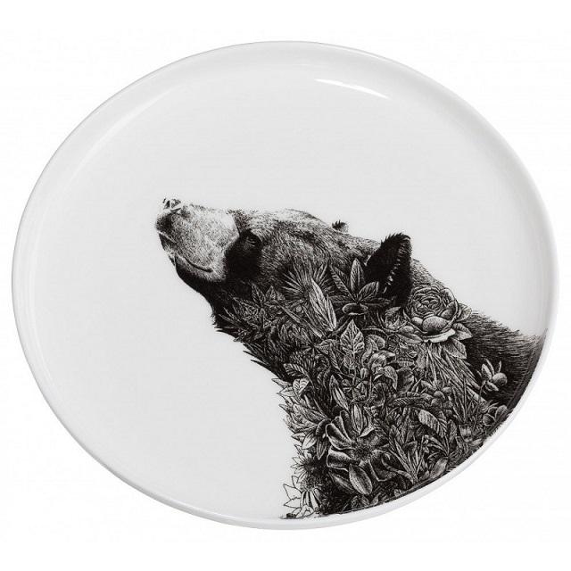 Porcelánový Talíř Marini Ferlazzo Asijský černý medvěd 20 cm - Maxwell&Williams