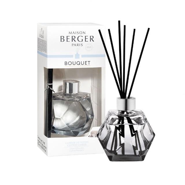 Aroma Difuzér GEOMETRY černý BAVLNĚNÁ PÉČE 180 ml - Maison Berger Paris