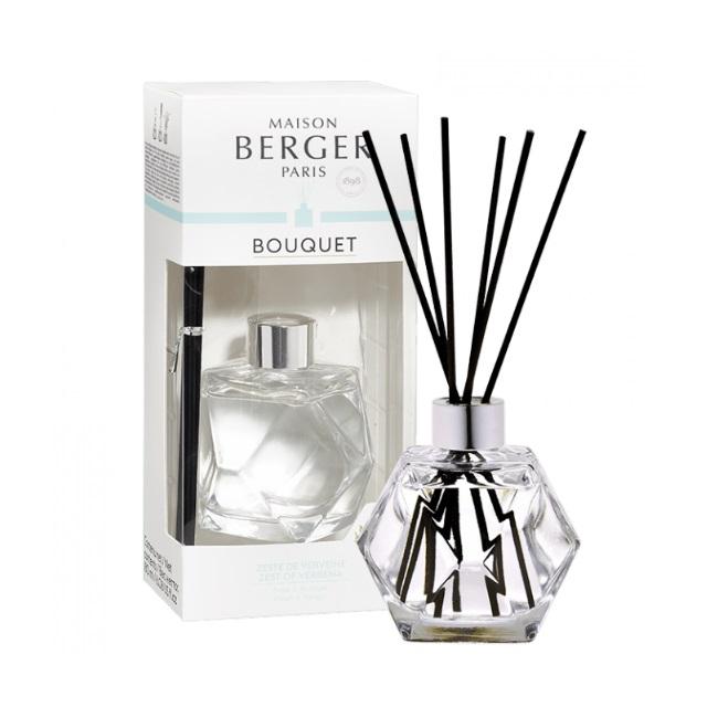 Aroma Difuzér GEOMETRY transparentní VERBENA 180 ml - Maison Berger Paris