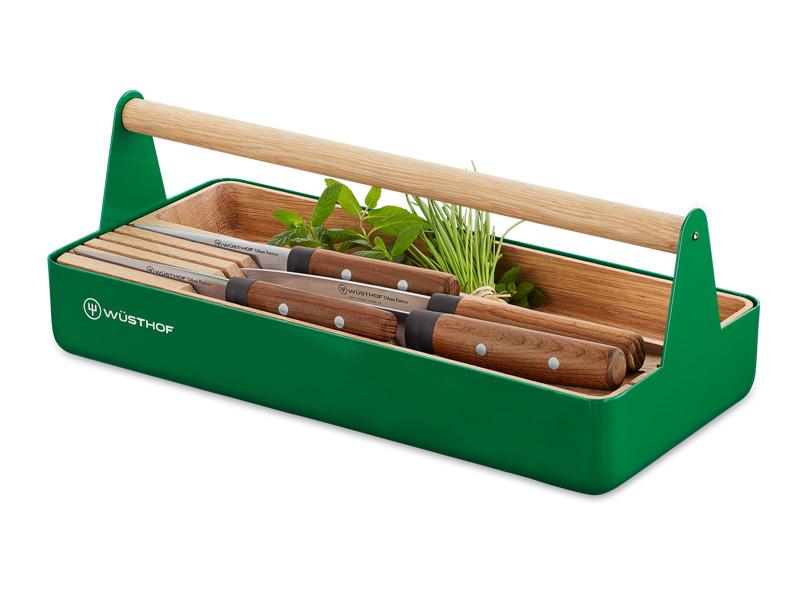 Box na nářadí + 4 nože URBAN FARMER - Wüsthof Dreizack Solingen