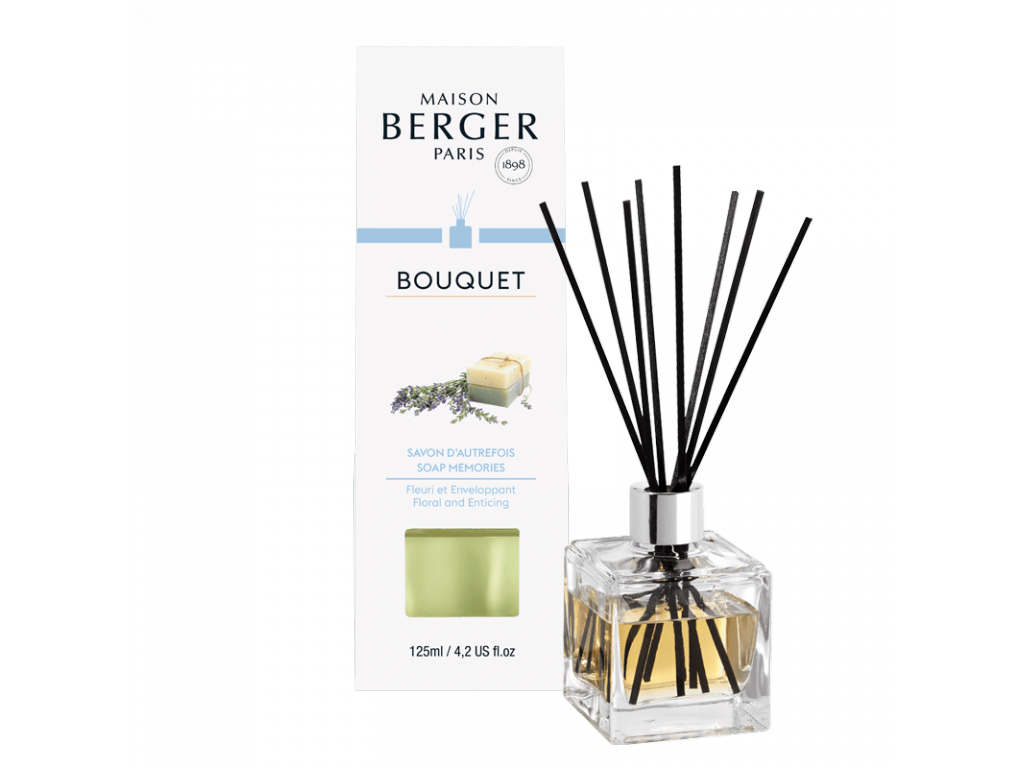 Aroma Difuzér CUBE Mýdlové bublinky 125 ml - Maison Berger Paris
