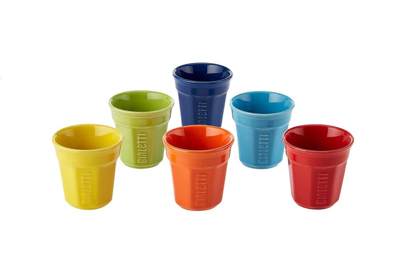 Sada 6 šálků na espreso 90 ml barevný - Bialetti