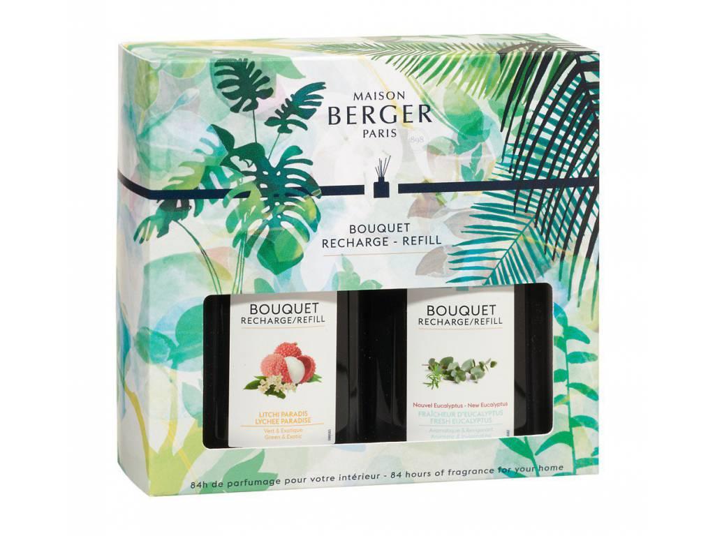 Náplně do difuzéru Rajské liči a Čerstvý eukalyptus 200 ml - Maison Berger Paris